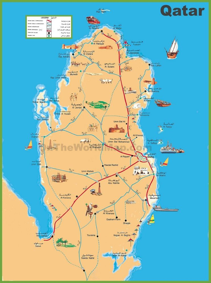 Qatar travel map Maps Pinterest Travel maps