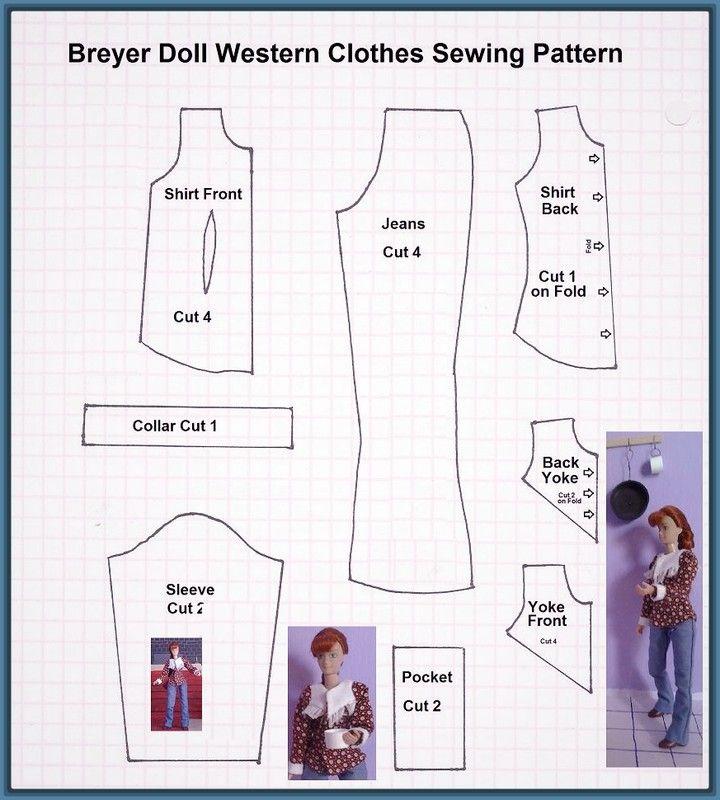 Imagenes de moldes de ropa para barbies | ropa muñecas | Pinterest ...