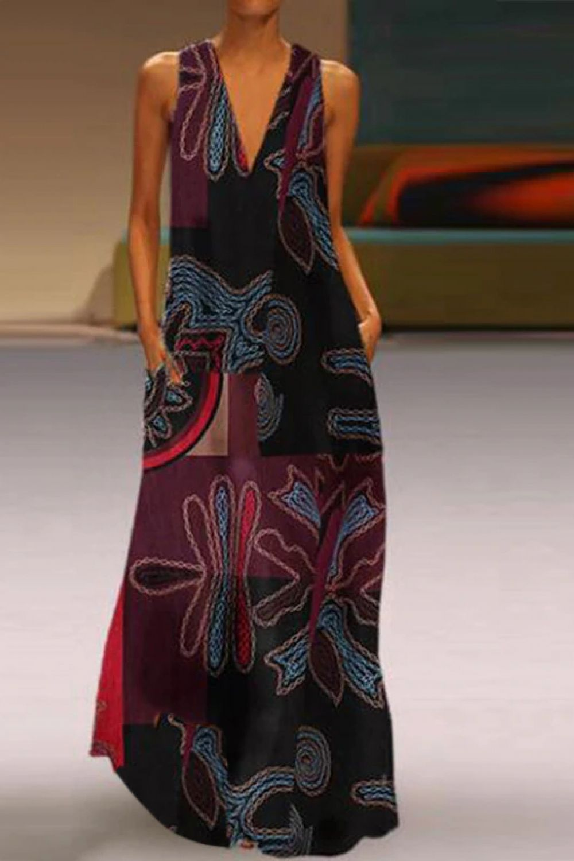 Maxi Vestido Longo Floral Vintage de Linho de Algodão  Price: $ 27.08 & FREE Shipping  #styles #must...
