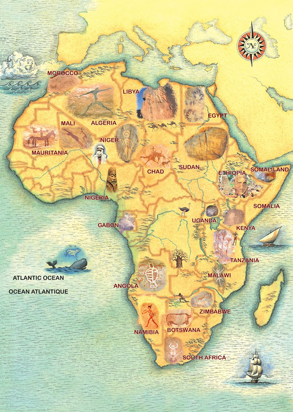 Rock Art In Africa Interactive Rock Art Map | Teaching Art History