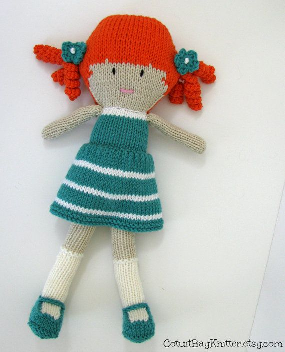 Knitted Doll Stuffed Toy Doll Toy Plush от cotuitbayknitter