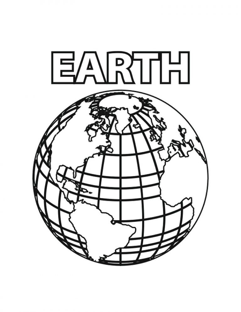 Free Printable Earth Coloring Pages For Kids in 2020