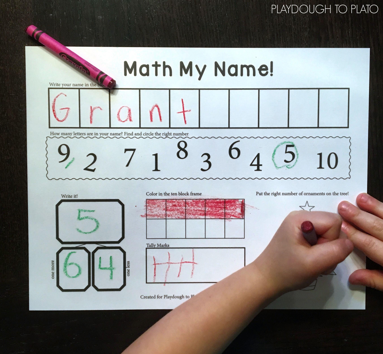 Math My Name | PreK and Kindergarten Activities | Pinterest | Kids ...