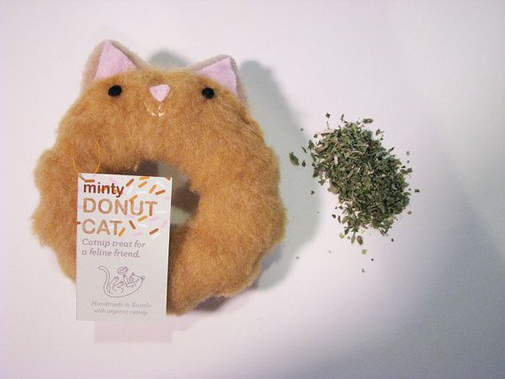 Hey, I found this really awesome Etsy listing at https://www.etsy.com/listing/150791889/minty-donut-cat-catnip-toy-maple