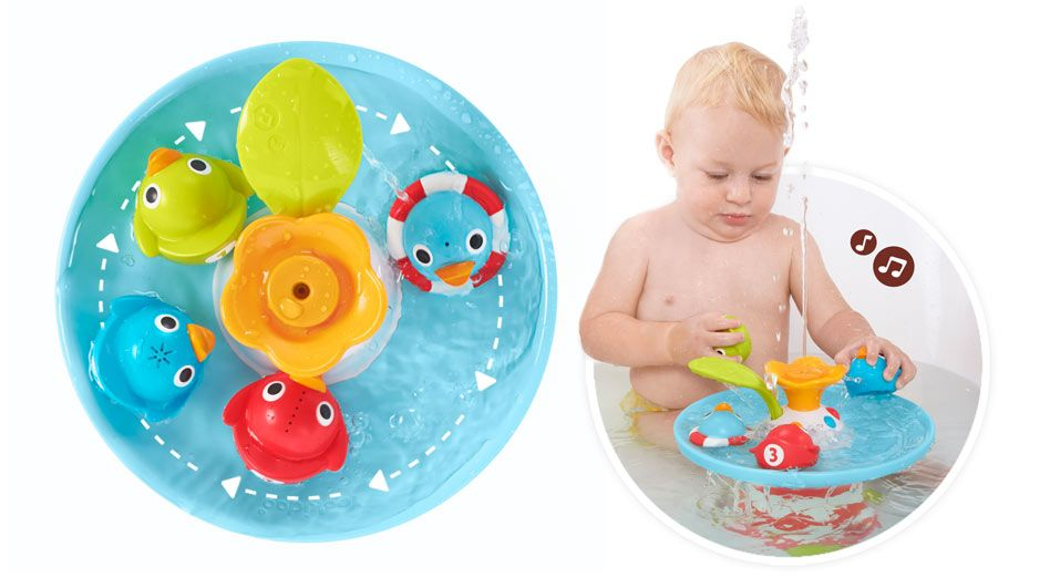 Bath toys for babies & toddlers - Yookidoo Musical Duck Race ...