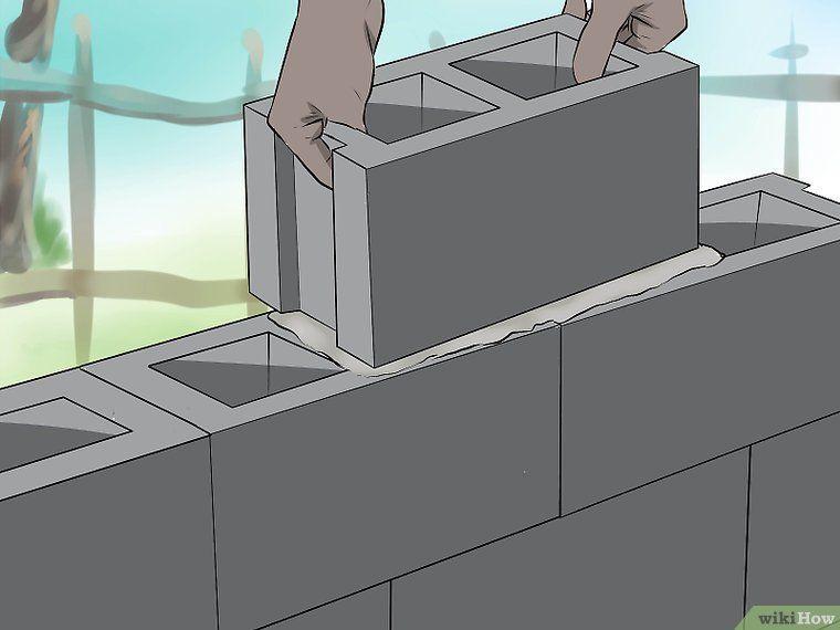 4 Ways To Lay Concrete Blocks Concrete Block Walls How To Lay Concrete Concrete Block Retaining Wall