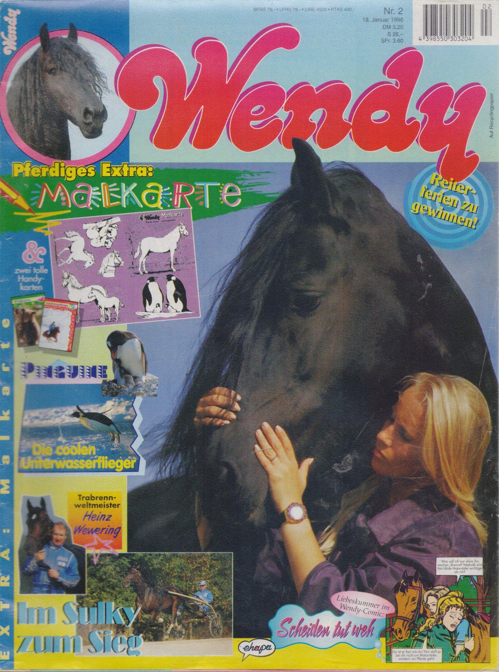 Wendy Zeitschrift 1995 Bastei Verlag Wendy Pferde Sind Mein Leben 1996 Nr 02 90er Kindheit Kindheitserinnerungen Kindheit
