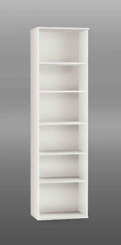Attractive This Tall Narrow White Bookcase/ Wooden Bookcase/ Book Shelves Has A Clean,  White