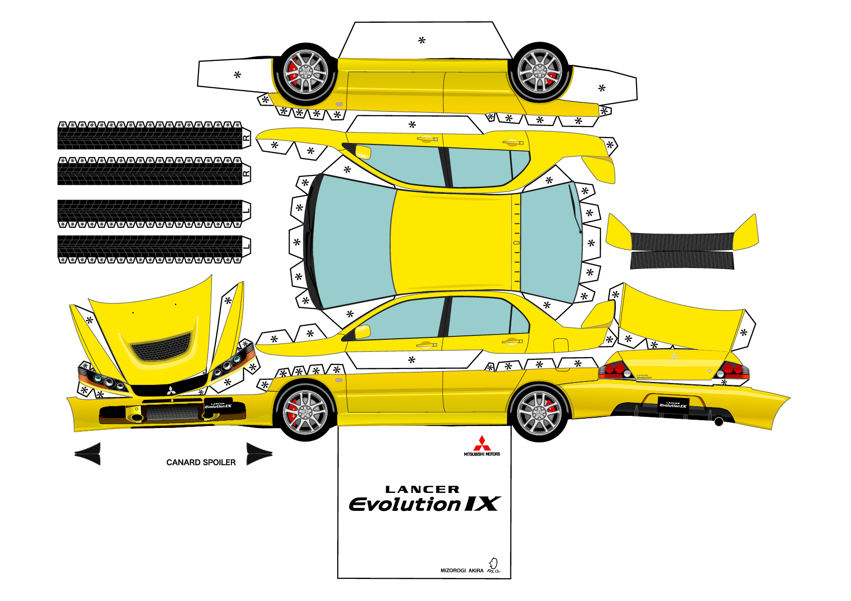 Image Detail For Lancer Evo  Printable Paper Craft Project