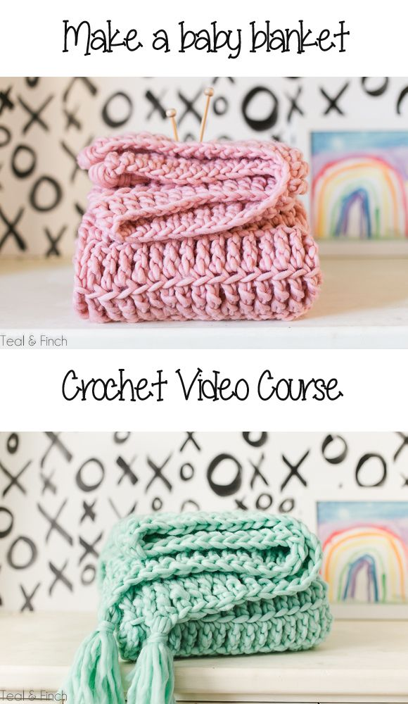 crochet baby blanket video course, crochet video, crochet tutorial ...