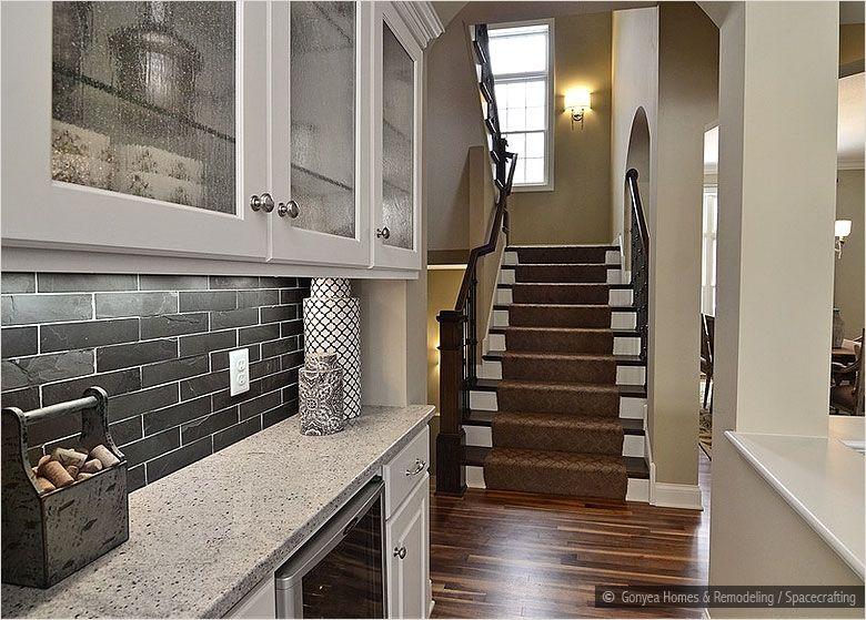 Black Dark Gray Slate Mosaic Kitchen Backsplash Tile Backsplash Com Black Backsplash Backsplash For White Cabinets Tile Backsplash