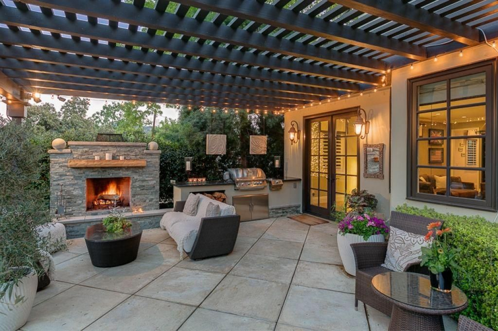 Covered Outdoor Kitchen With Patio Area Covered Backyard Patio Outdoor Covered Patio 10 Cozy Outdoor C Covered Patio Design Outdoor Patio Designs Patio Trends