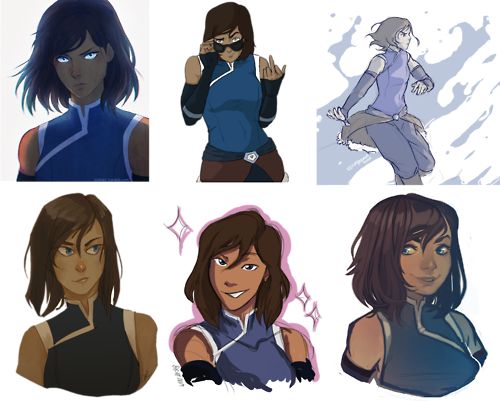 I pin a lot of art of Korra. I guess it's because there're so many good pieces out there.
