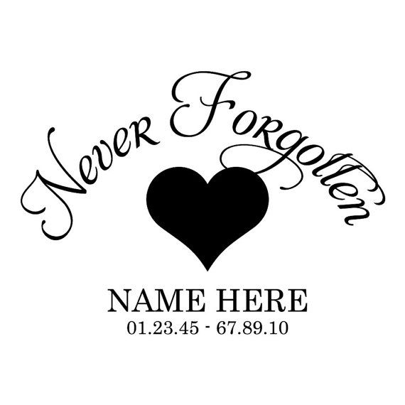 Set Of 2 Never Forgotten Car Decals 8 Quot X8 Quot Loving Memory Car Decals Memorial Decals Lettering