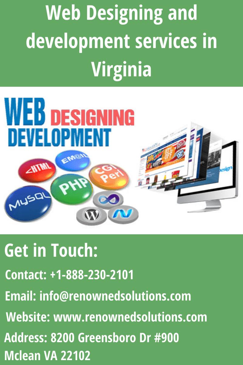 Web Designing And Development Services In Virginia In 2020 Web Design Web Development Design Web Application Development