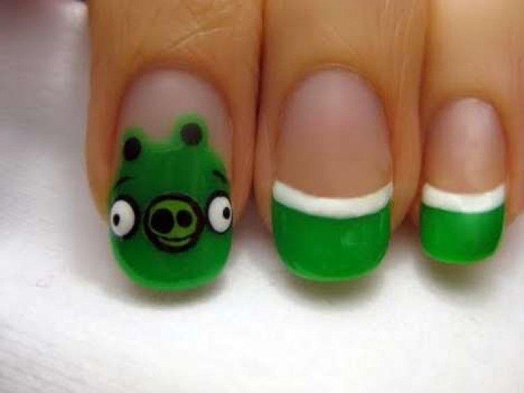 Angry Birds Nail Art | Nail Art & Nail Care Tips | Pinterest | Bird ...