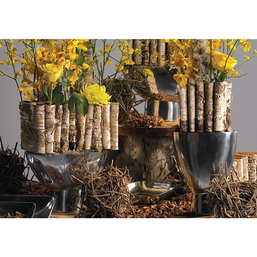 Folded birch planter wedding decorations birch vase