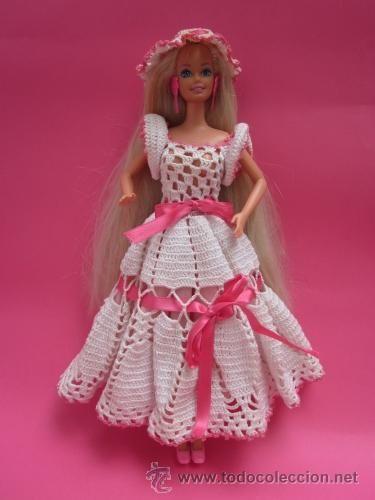Muñeca Barbie vestido ganchillo Mattel muñeca muñecas muñecos nuevo ...