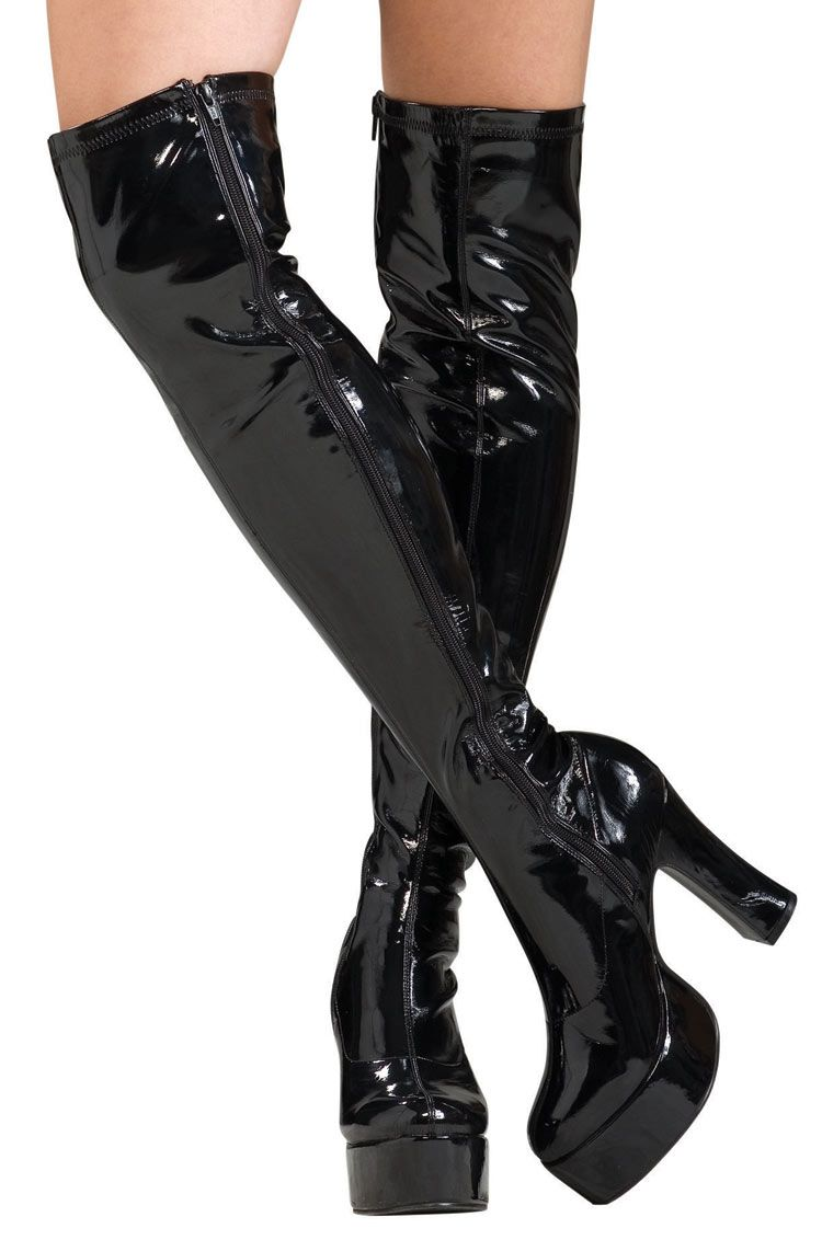 A pair of fashion lace up thigh high boots is necessary for spring ...