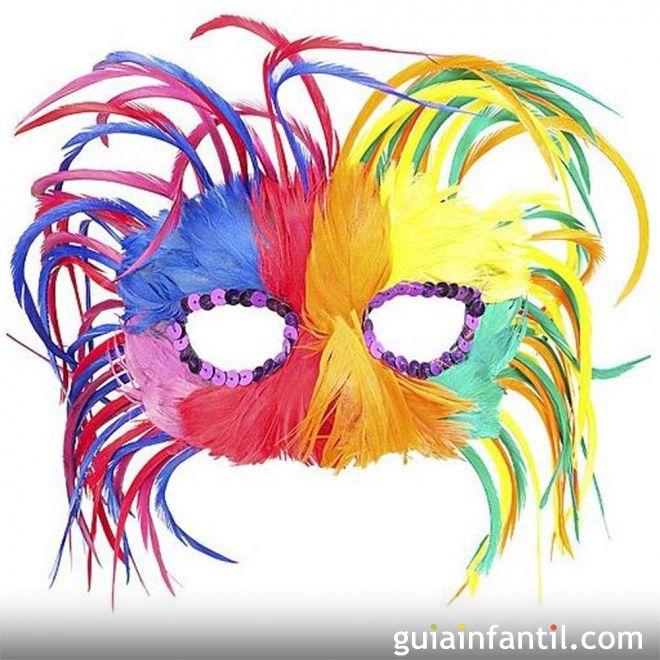 Colorido antifaz de Carnaval