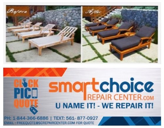 We repair and refinish all types of patio furniture (wood, metal ...