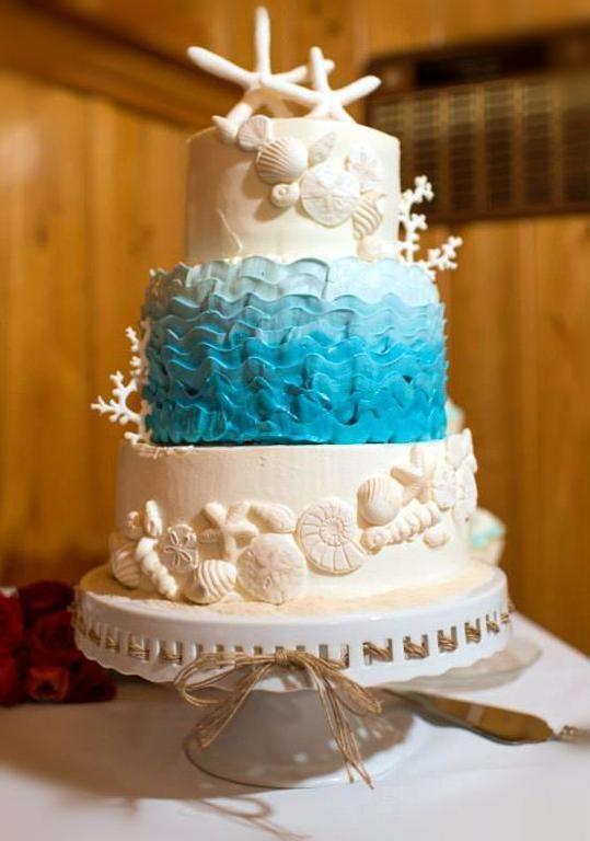 Sun Sea And Sugar BeachThemed Wedding Cakes Themed Wedding - Harga Dummy Wedding Cake