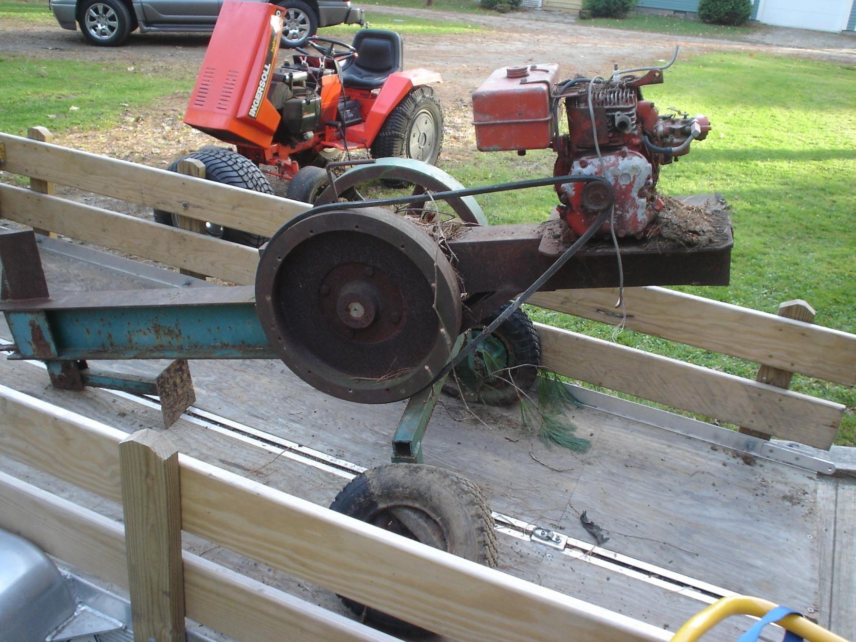Home Built Flywheel Log Splitter Inertia Log Splitter