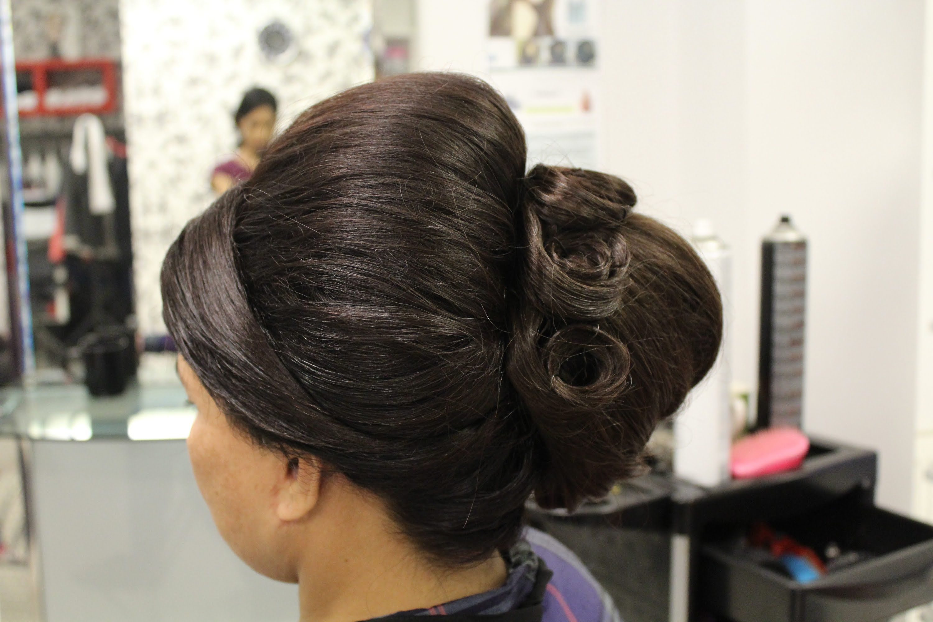 beehive hairstyle | indian, pakistani, asian bridal hair
