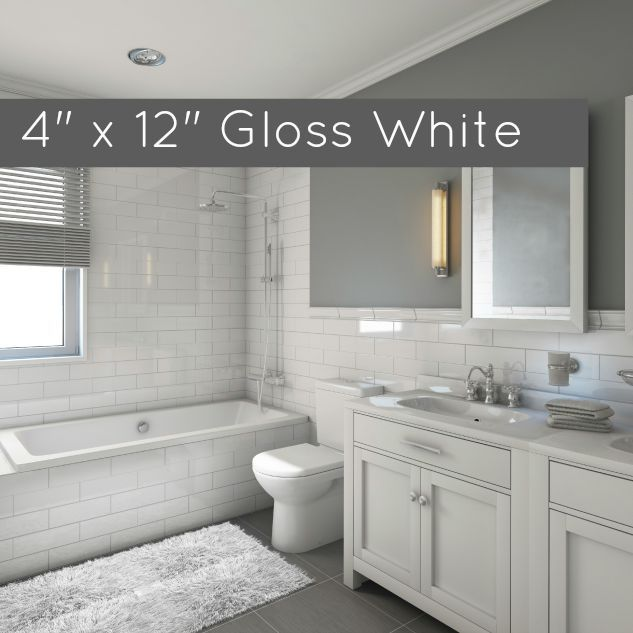 cheap white tiles for bathrooms clearance metro subway tile white matte 4 quot x 12 quot ceramic 22920
