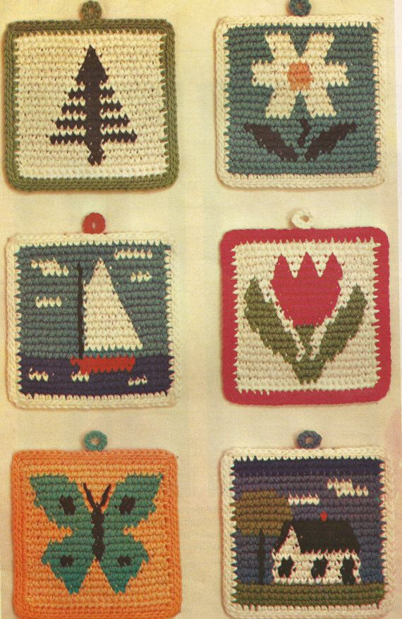 Hey, I found this really awesome Etsy listing at https://www.etsy.com/listing/224041350/picture-potholders-vintage-crochet