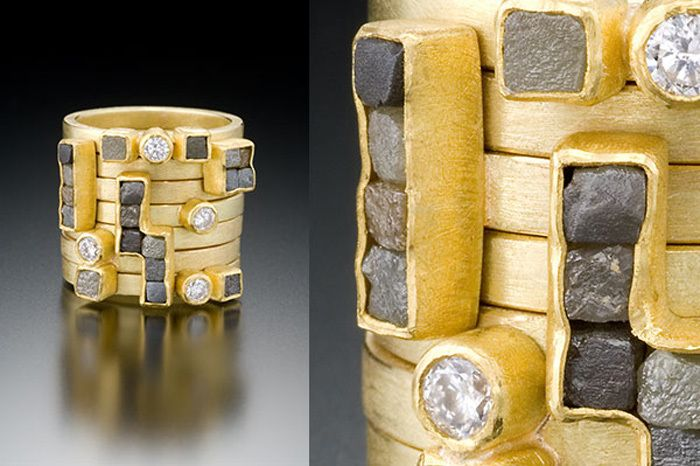 petra class. gold and mixed diamond ring. OH how i want this!!!!!!!