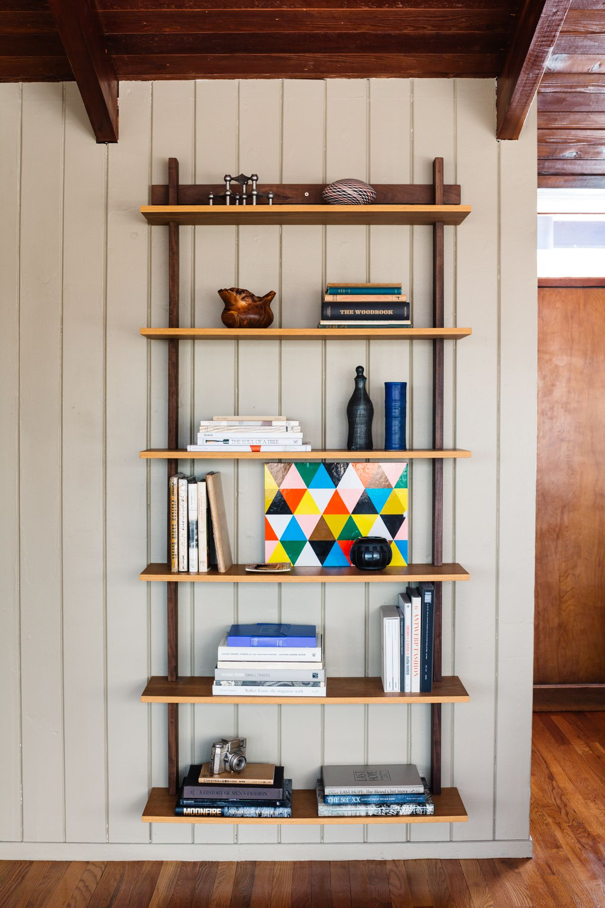 Wall Hung Shelves At The Wood House Carla And Niall Maher S Midcentury Ranch An Ongoing Remodel Restoration Project In Westchester Ny Photographed By