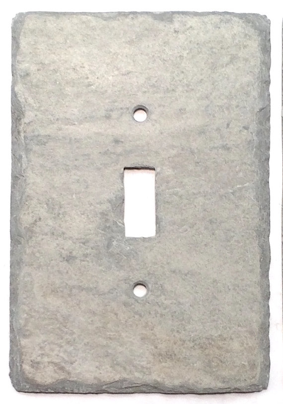 Light Switch Cover Gray Natural Slate Stone, Rustic, Cottage, Cabin ...