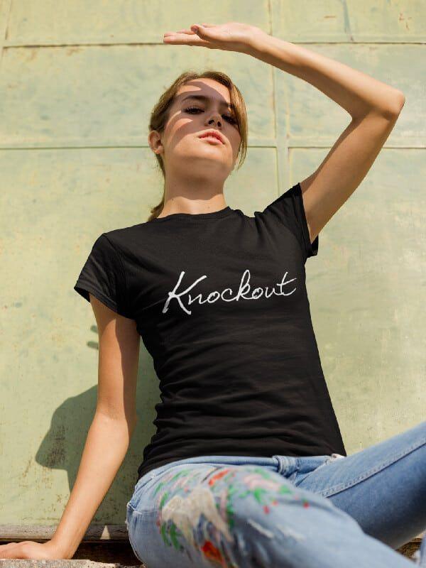 Verwonderend T-Shirt Knockout in 2020   T shirts for women, Vans t shirt, Home MM-35