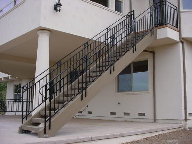 Best Custom Stair Railings Powder Coated Bk05 Semi Gloss Black By Fabworx Inc Interior Railings 400 x 300