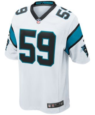 ab05b3f5 Nike Men's Luke Kuechly Carolina Panthers Game Jersey - White XXL ...