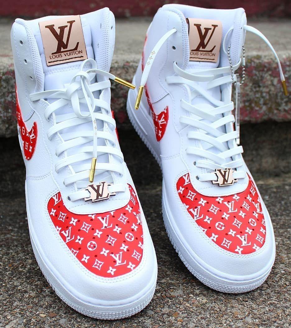 Air Force 1 Louis Vuitton Custom Hype shoes, Nike air