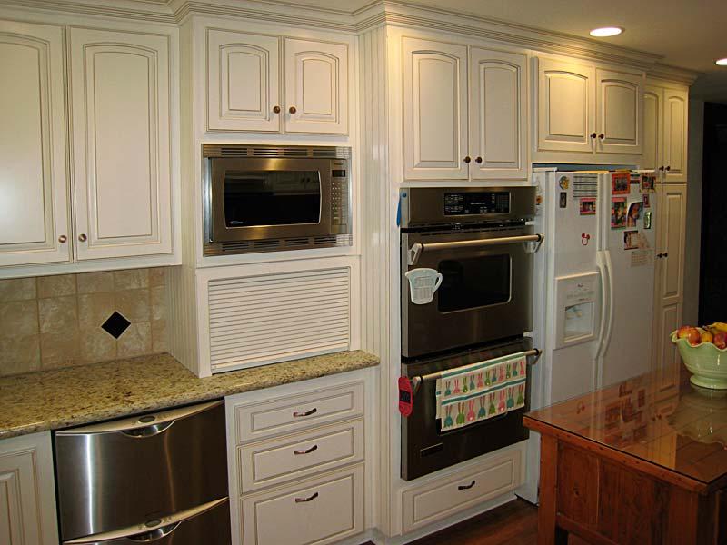Bread Box Under Microwave Shelf Microwave Cabinet Kitchen Microwave Cabinet Custom Kitchen Cabinets