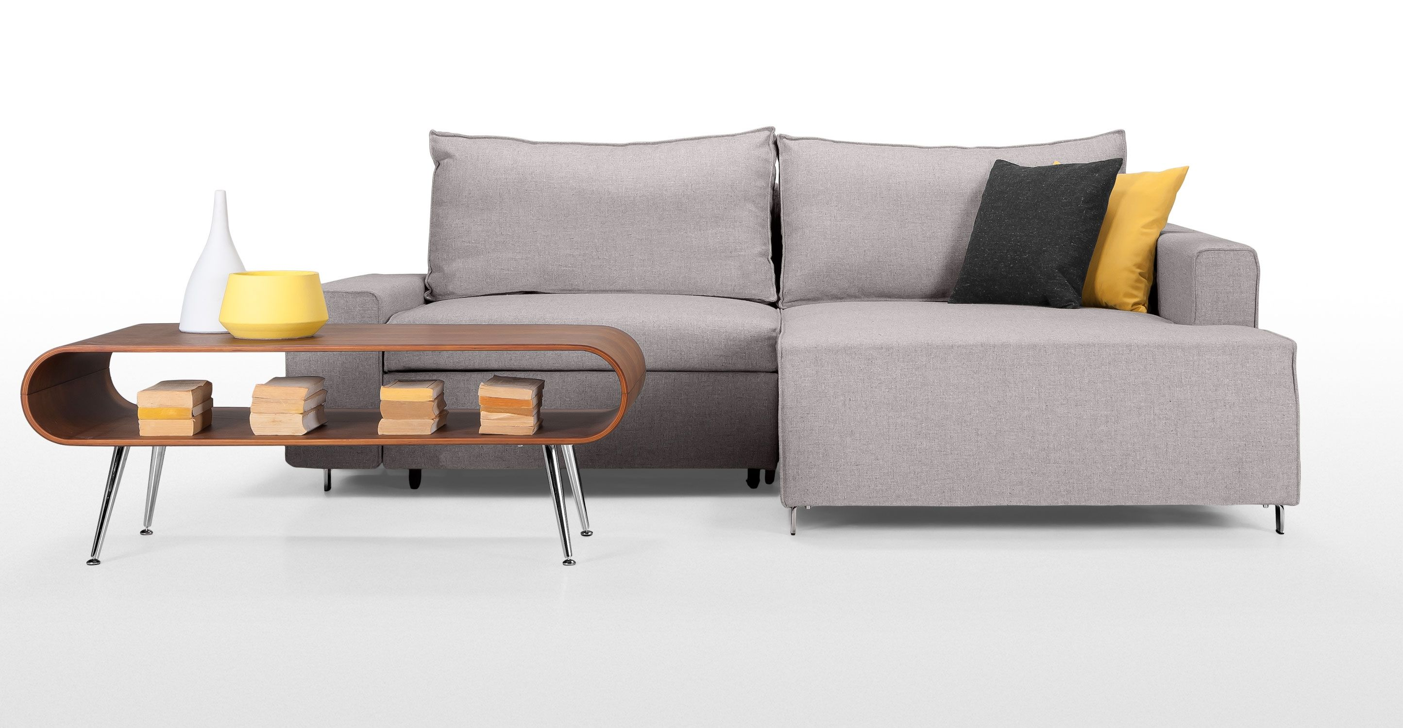 Mayne Corner Sofa Bed In Mist Grey Made Com Corner Sofa Bed