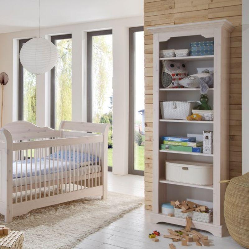 Steens Möbel babyzimmer freja bücherregal 5 böden kiefer massiv white wash