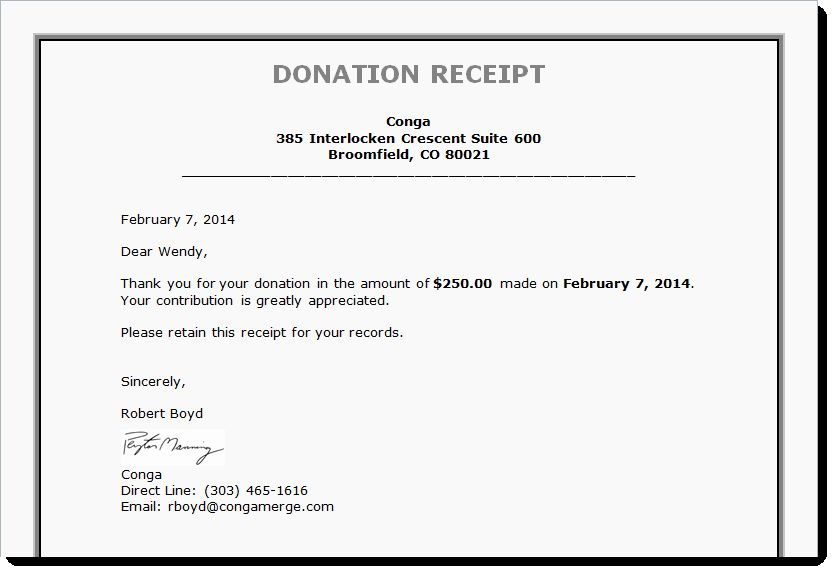 Free Donation Receipt Template Unique Tax Receipts Board Reports And More Generating Documents Donation Letter Template Donation Letter Letter Template Word