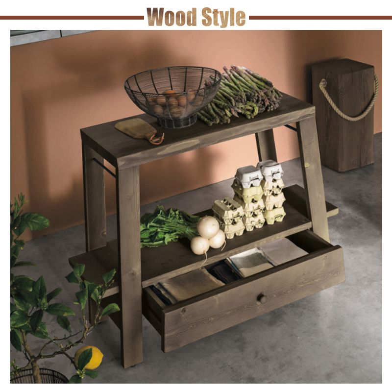 WOOD STYLE | cucina | stosa | made in italy | legno | mensola ...