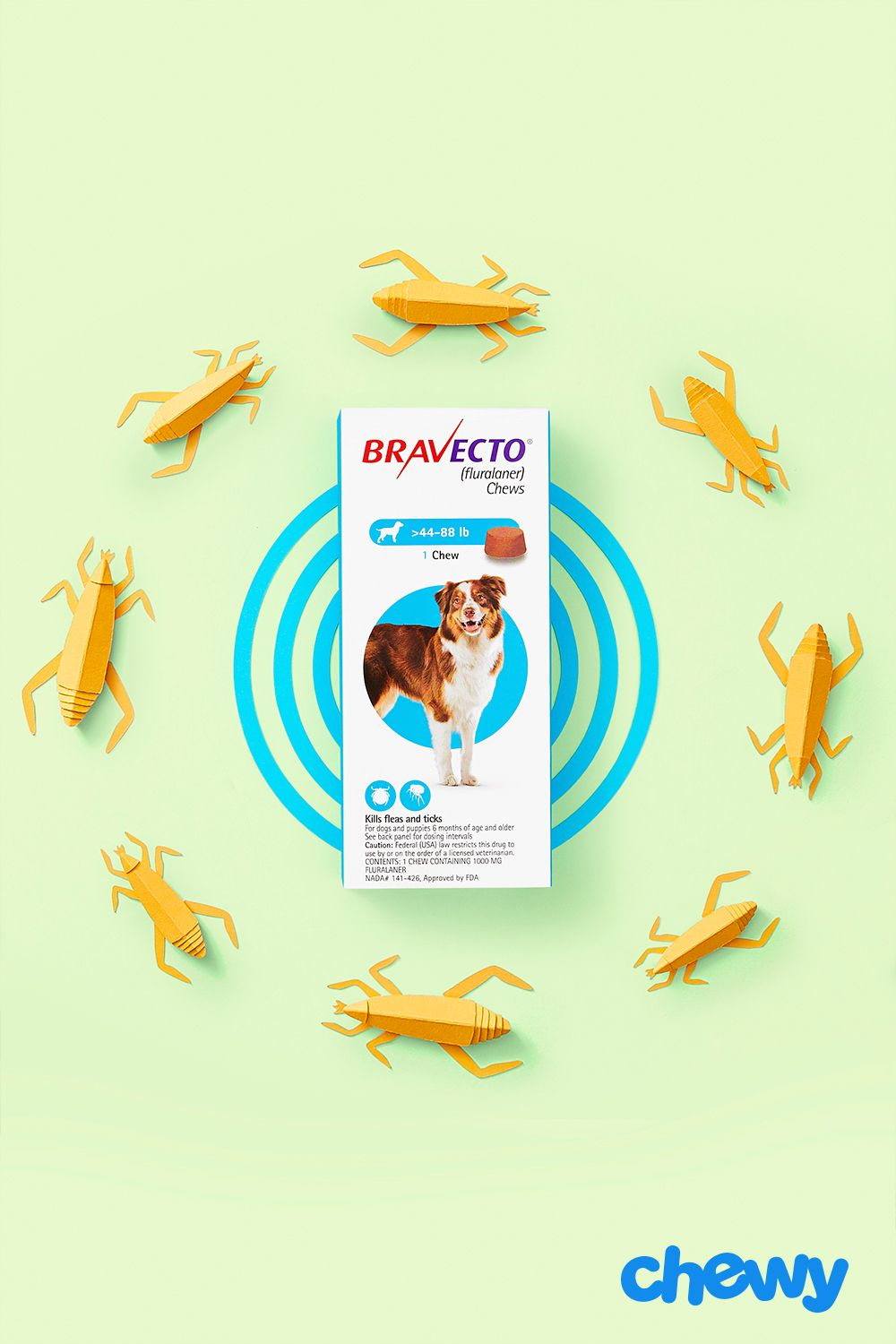 Protect Your Dog From Ticks And Fleas The Easy Way With Bravecto These Chews Terminate Adult Fleas Help Treat And Prevent Fl Fleas Flea And Tick American Dog