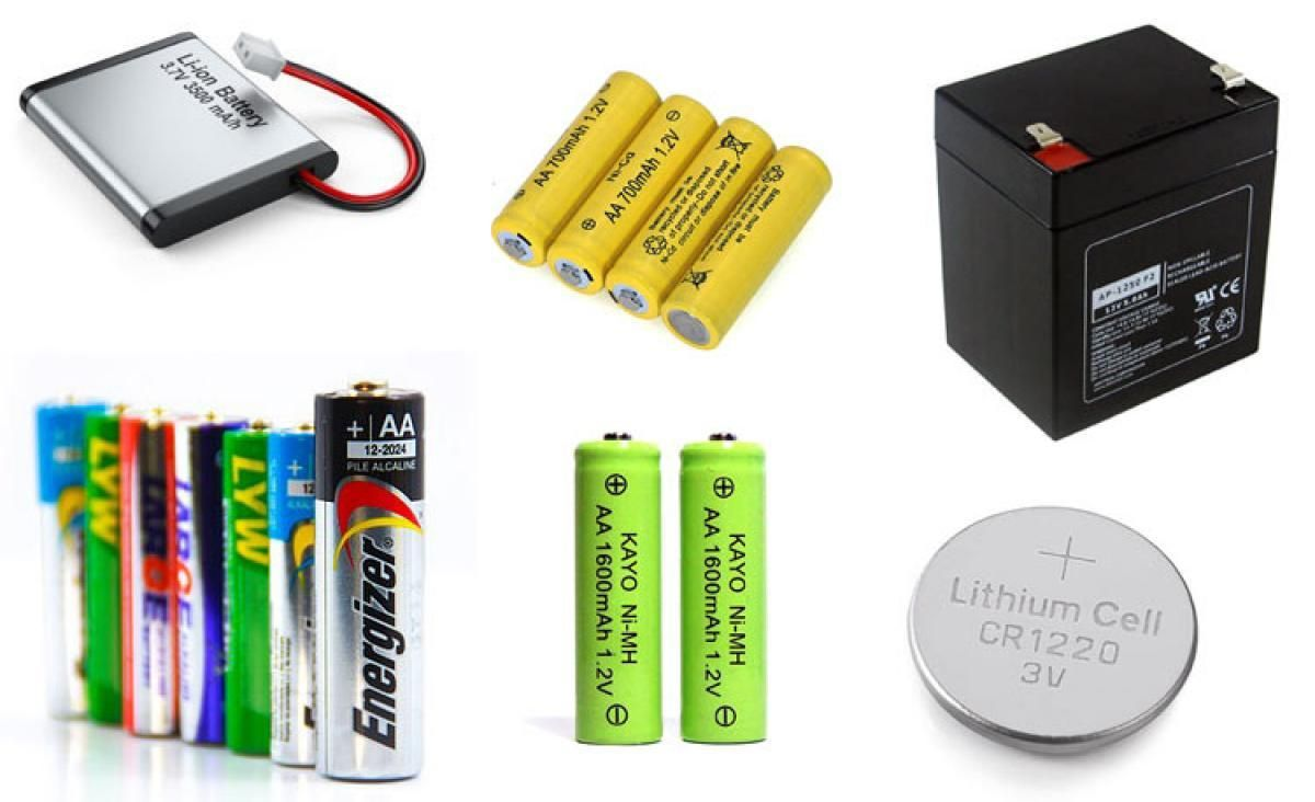 Types Of Batteries And Their Applications Battery Batteries Batteries Diy