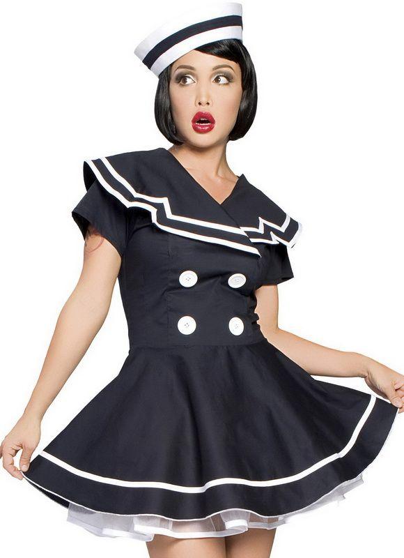 Captain costume girl