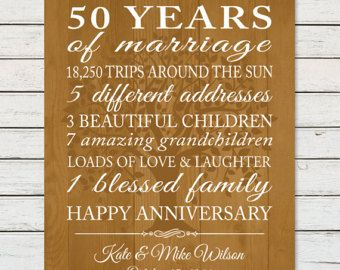 50th anniversary gift print 50 years of marriage anniversary sign 50th anniversary gift print 50 years of marriage anniversary sign parents 50th anniversary stopboris Gallery