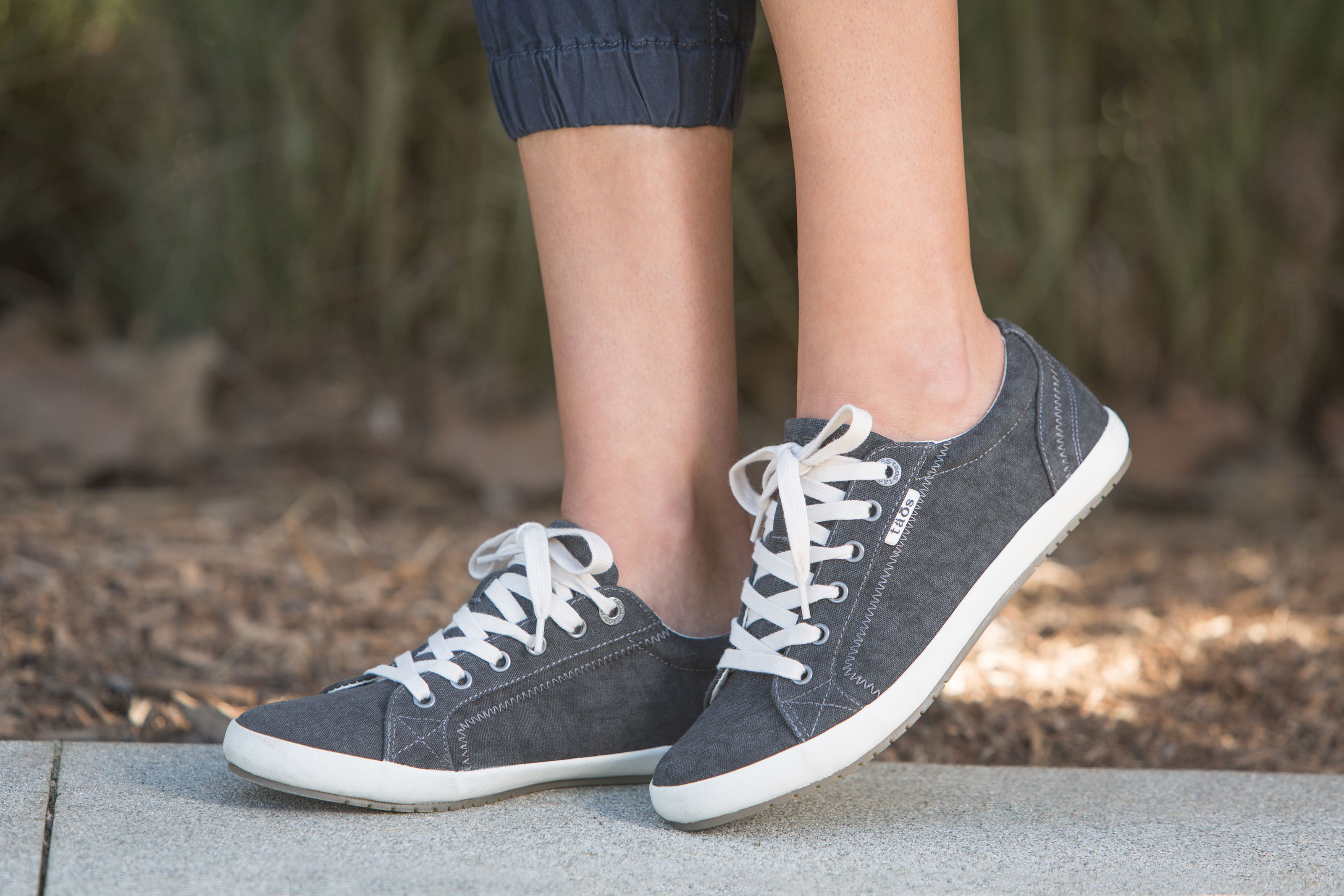 c43c6b9b84e36b Style and comfort for everything you do with the Taos Star Canvas Sneaker.  Available in 2 colors  Charcoal Wash Canvas and Khaki Wash Canvas.