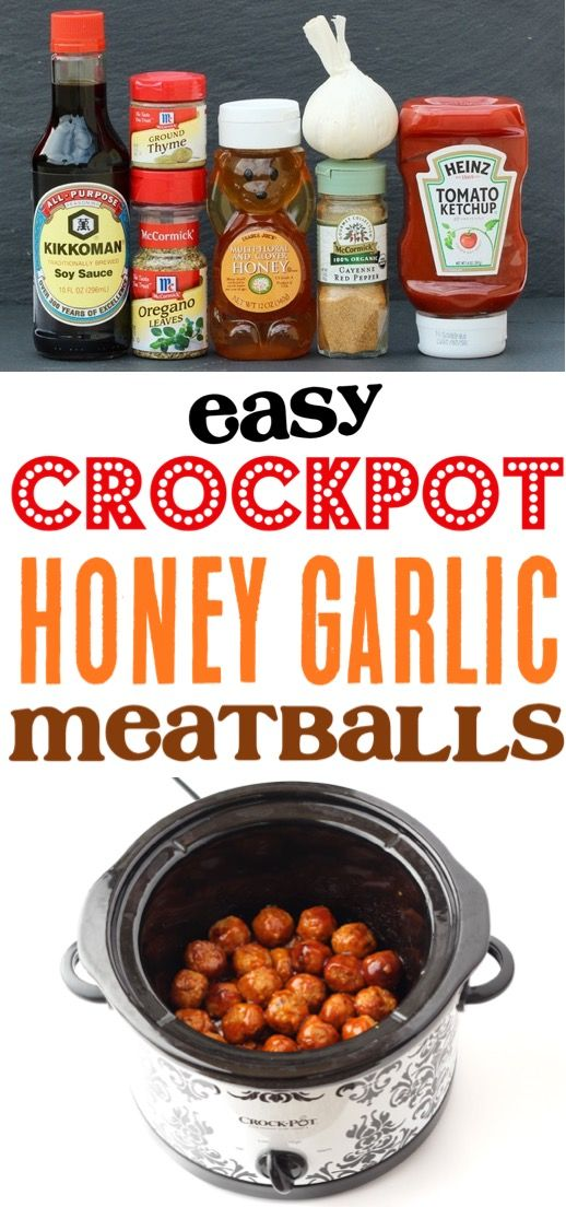 Photo of Crockpot Honey Garlic Meatballs Recipe! {Crazy Easy} – The Frugal Girls