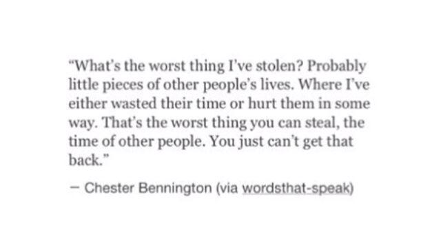 I wonder hoe many lives I've stolen