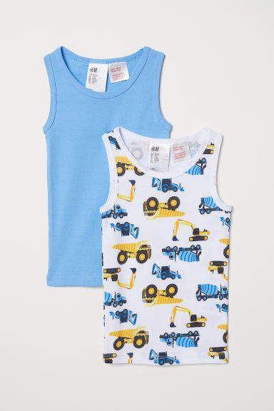 BOOPH 3 Pack White Boys Tank Top Sleeveless Shirt Undershirt for Little Boy